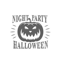 halloween logotype vector image