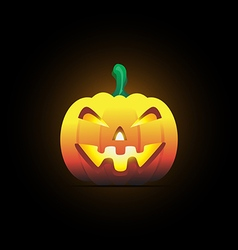 Halloween pumpkin smile vector