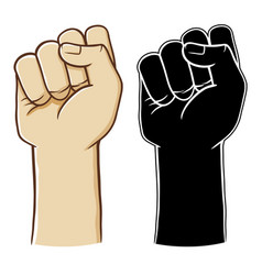 hand clenched making number zero sign vector image