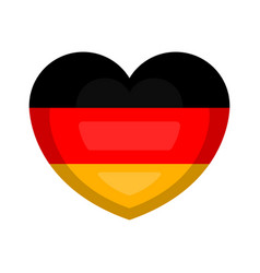 heart shape with the flag of germany vector image