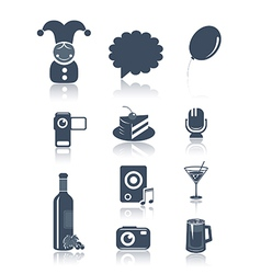 Holidays and party symbols vector image vector image