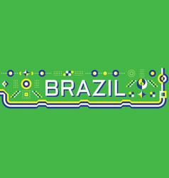 horizontal banner brazil flag colors vector image