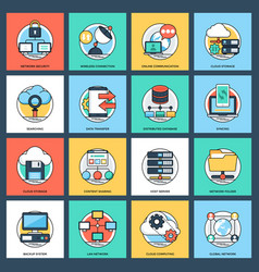 internet and networking icon vector image