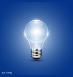 Light bulb on background vector