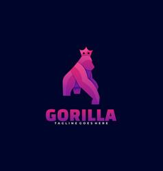 logo gorilla gradient colorful style vector image