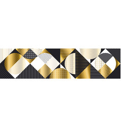 luxury gold and black abstract pattern vector image