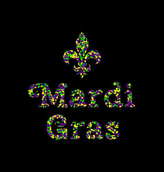 Mardi gras shrove tuesday event name from vector