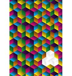 Multicolor cube background vector