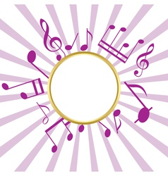 music card with rays vector image