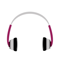 music headphones front view graphic vector image