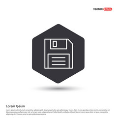 notepad icon flat design hexa white background vector image