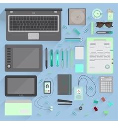 Office Workspace vector