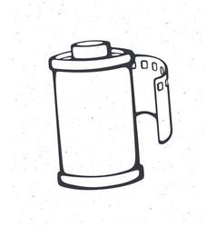 Outline photo film in cartridge vector