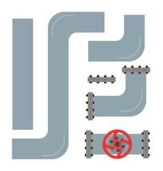plumbing gas pipeline oil pipeline water valve vector image