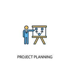 project planning concept 2 colored line icon vector image