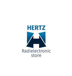 Radio electronic store icon vector