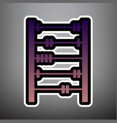 retro abacus sign violet gradient icon vector image