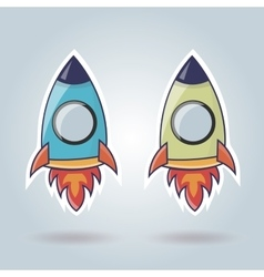 Rocket elements for web site vector image