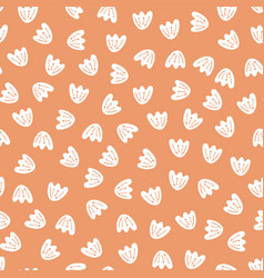 seamless abstract flower petal pattern vector image