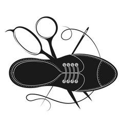 Shoe repair master design vector