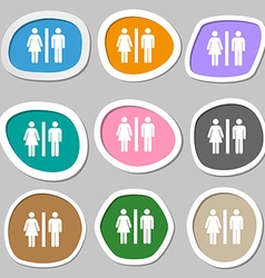silhouette of a man and a woman icon symbols vector image