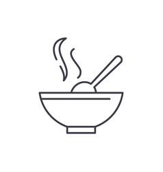 soup line icon concept soup linear vector image