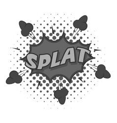 splat explosion bubble icon monochrome vector image