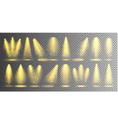 spotlight set bright christmas glowing vector image