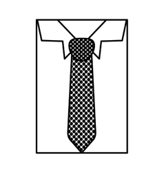 Square silhouette close up formal shirt with vector