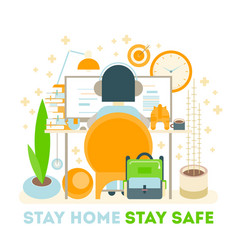 stay home stay safe vector image