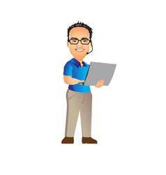 Tech guy nerd vector