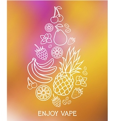 The taste of the electronic cigarette vector