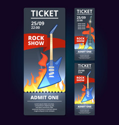 ticket design template of music event poster vector image