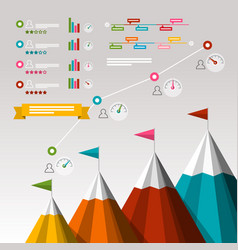 timeline business infographics with items vector image