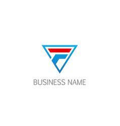 Triangle shape f company logo vector