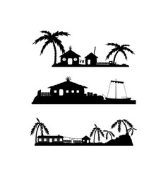Tropical village vector