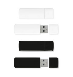 usb flash drive of plastic vector image