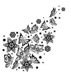 Various Butterflies on White Background vector