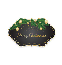 vintage christmas frame background banner with vector image