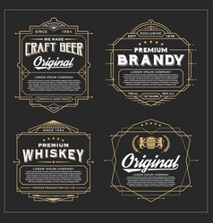 vintage frame design for labels vector image