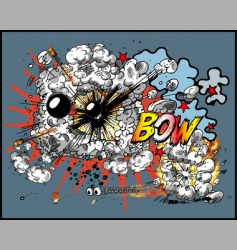explosion vector image vector image