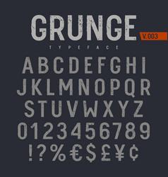 grunge font 005 vector image vector image
