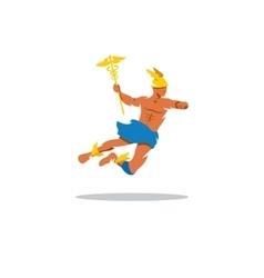 Hermes sign God of commerce profit rationality vector image