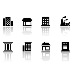 set houses icons vector image