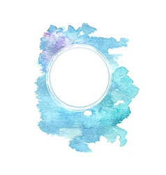 Abstract blue watercolor background vector