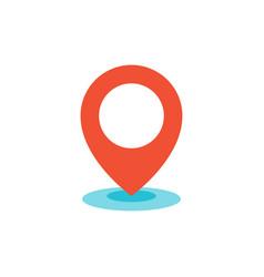 geo location pin icon flat vector image vector image