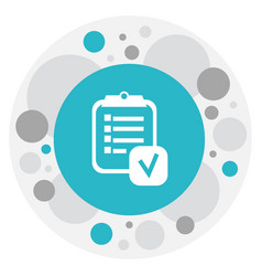 of mixed symbol on checklist vector image
