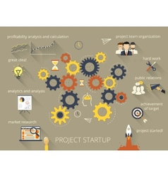 Project startup process vector