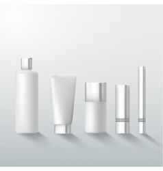 Set of cosmetics bottles and tubes vector image vector image