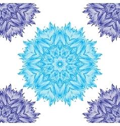 Set of Ornament round mandalas Geometric circle vector image